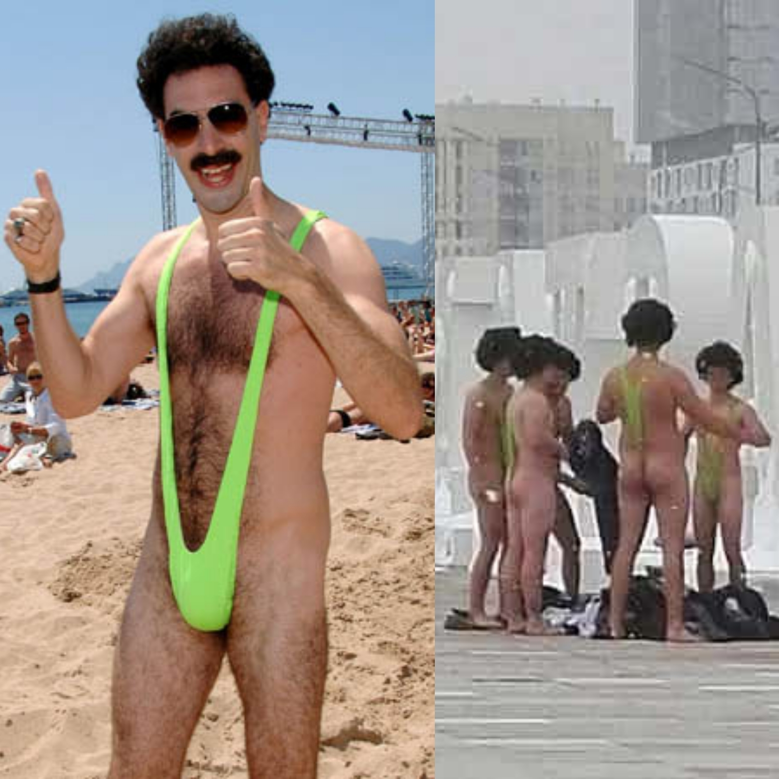 Sacha Baron Cohen offers to bail out Czech tourists - detained for wearing 'Borat' mankini's in public - Czech Points