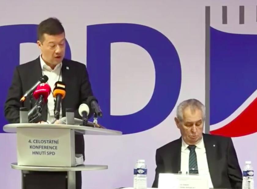 Extremist SPD Okamura Backs Zeman's Re-election Bid - Czech Points