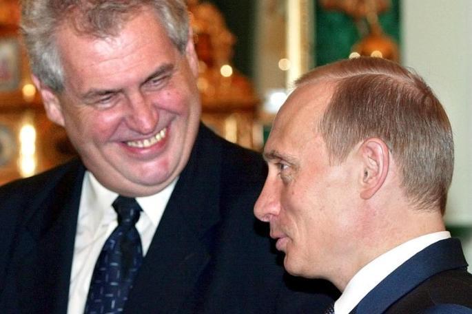 Milos Zeman Vladimir Putin