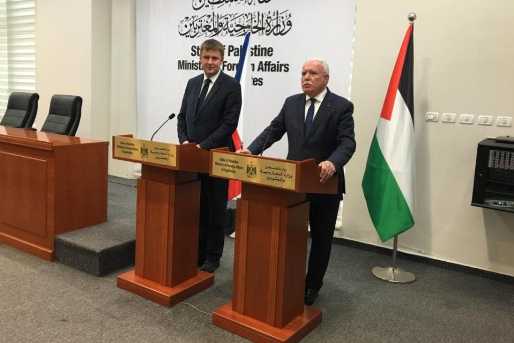 Palestinian foreign minister meets Minister Petříček in Prague - Czech Points