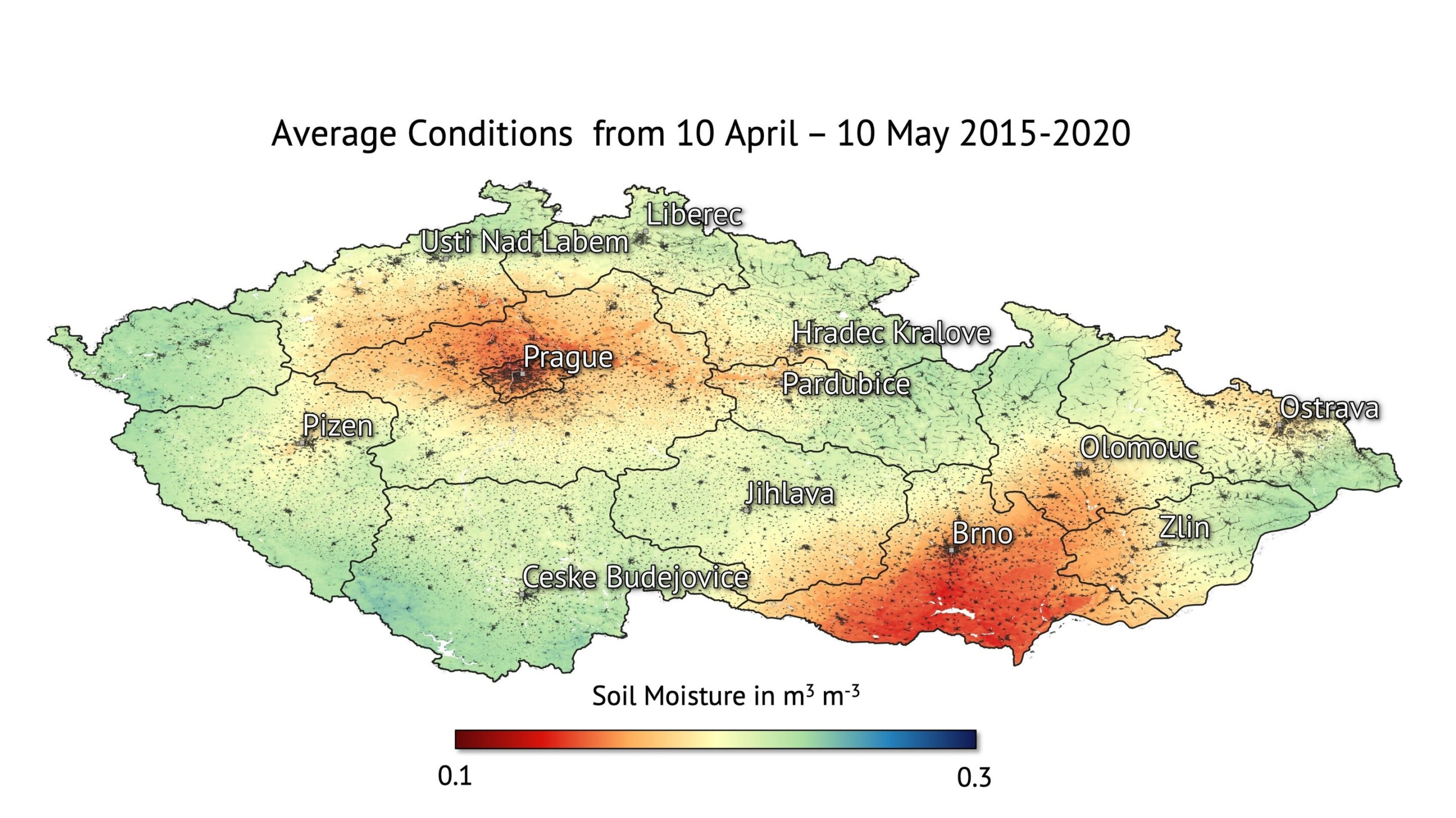 Drought visible from space - Czech Points